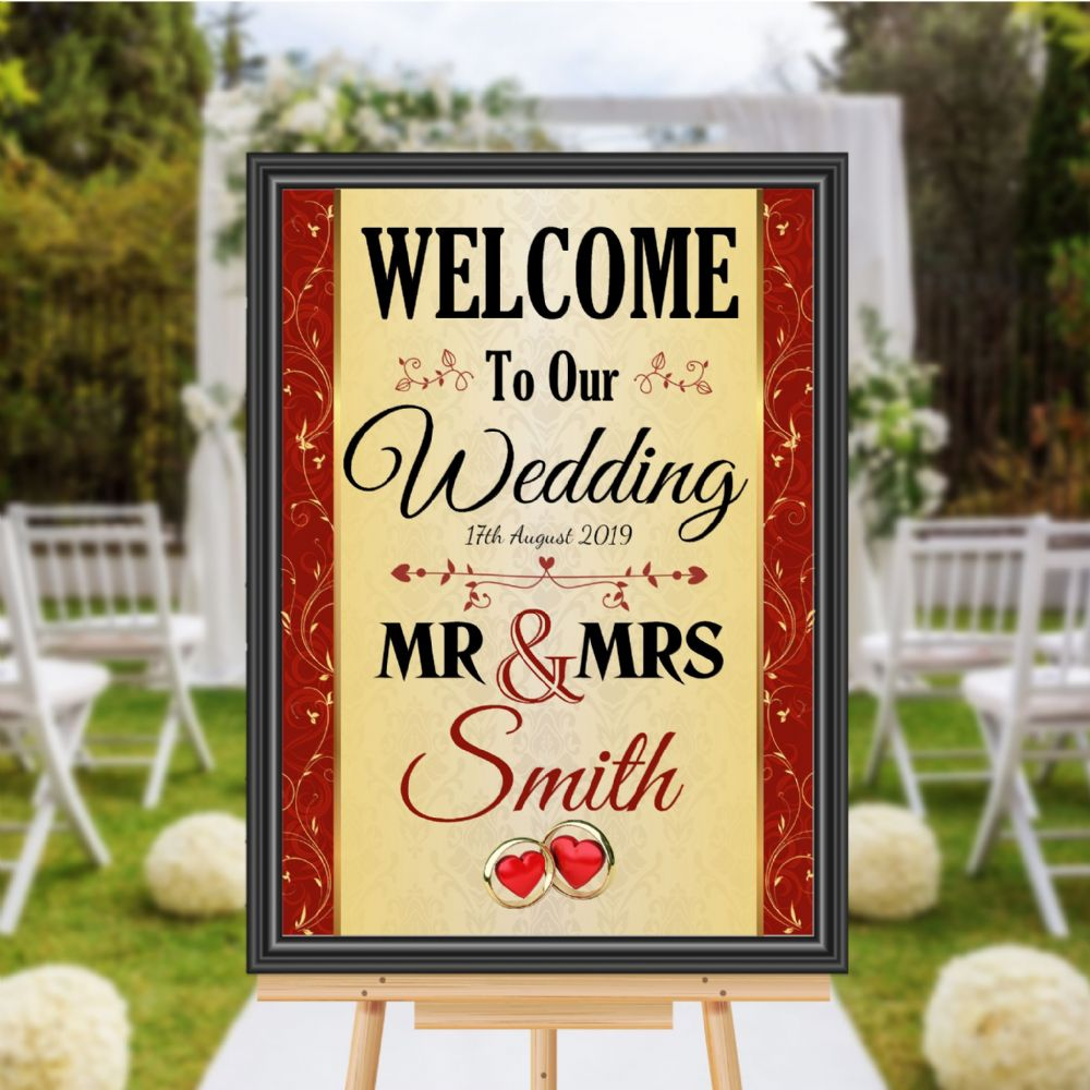 ce72668a7f905 Personalised Welcome to our Wedding Sign Poster Banner - Print N176